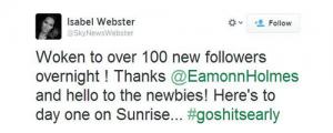 Sunrise tweet