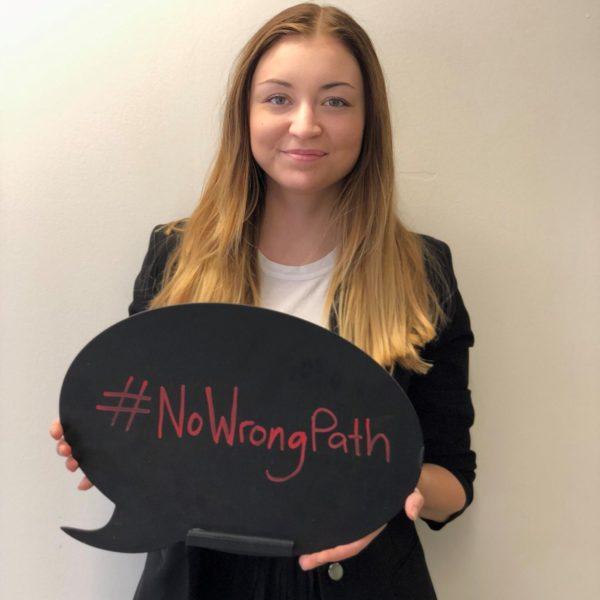 Rachelle talks about #NoWrongPath