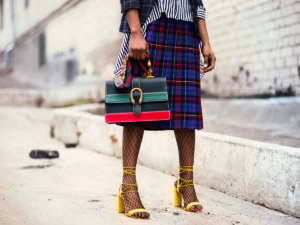 Fashionable woman on street - fashion marketing trends