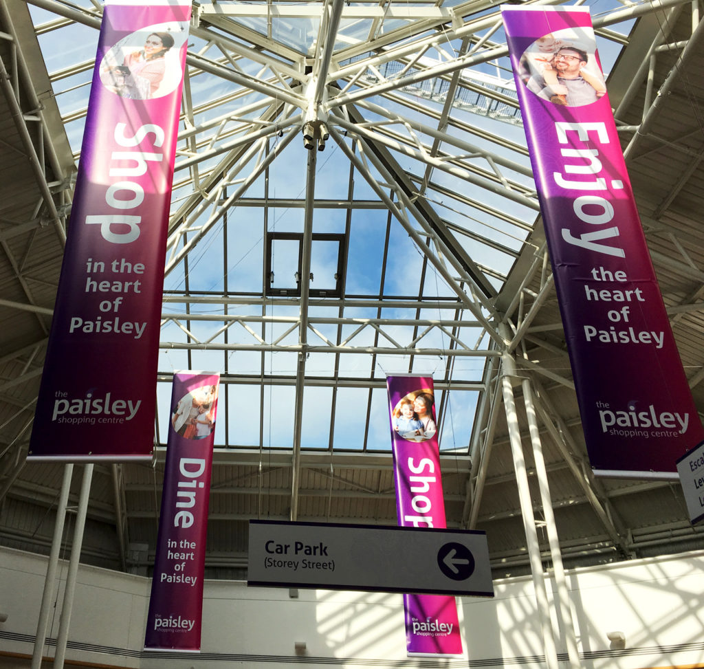 The Paisley Centre interior branding