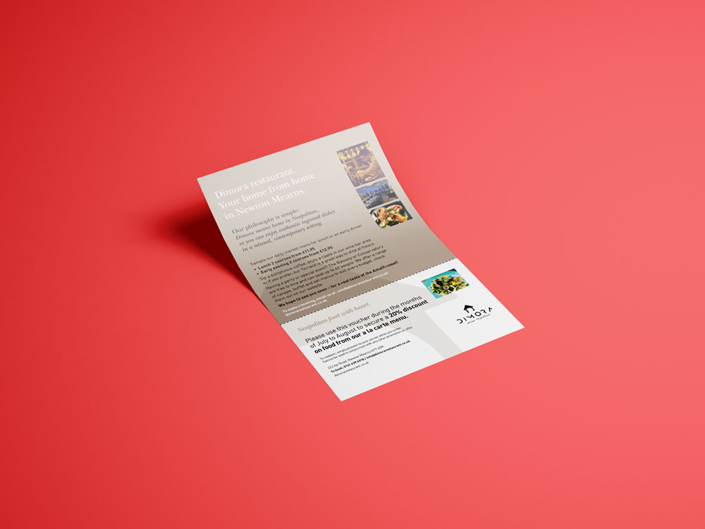Dimora voucher leaflet mock up