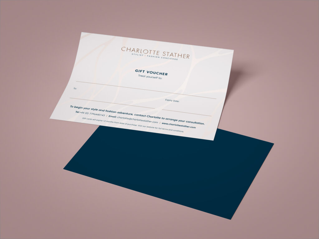 Charlotte Stather gift voucher mock up