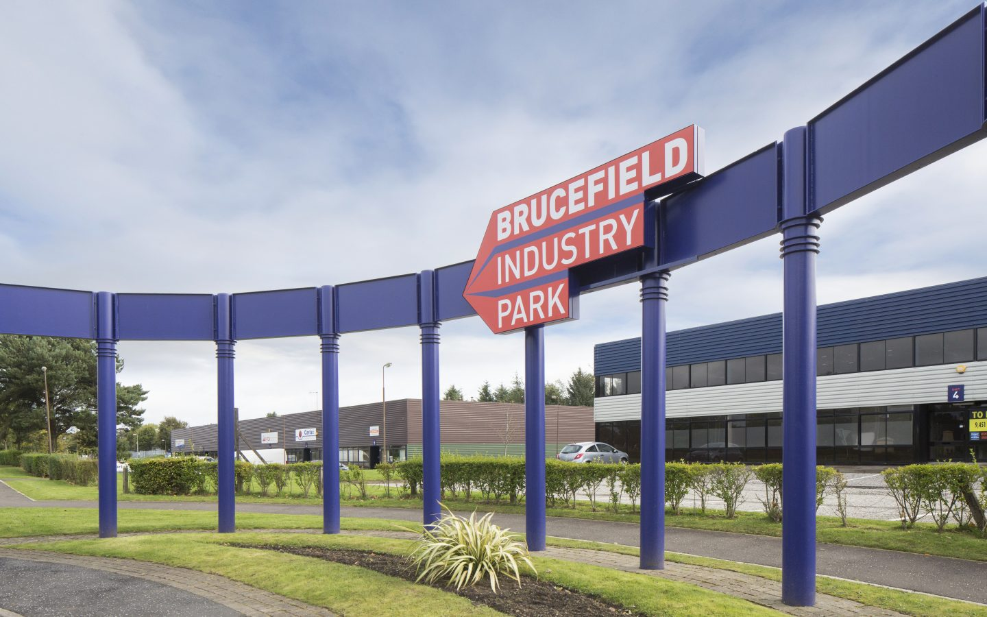 Brucefield on site signage
