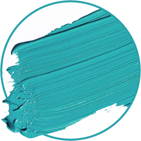 Turquoise paint smear