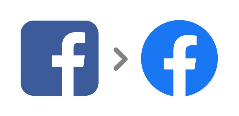 Facebook logo evolution